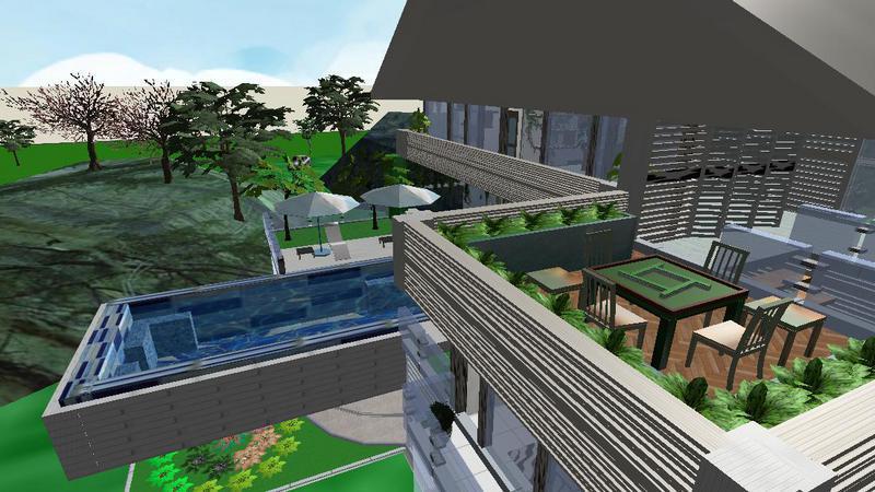 麻将游泳休闲一应俱全绿色生态馆
