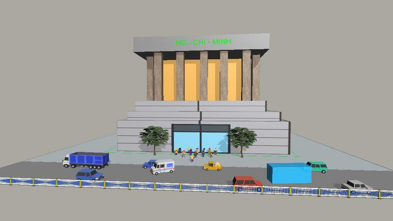 越南标志性建筑——胡志明纪念馆