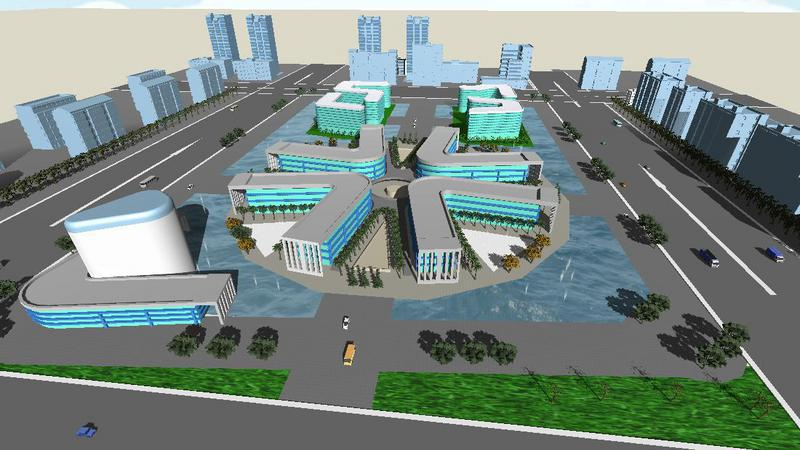 城市一角---绵阳科技城国家级创新中心