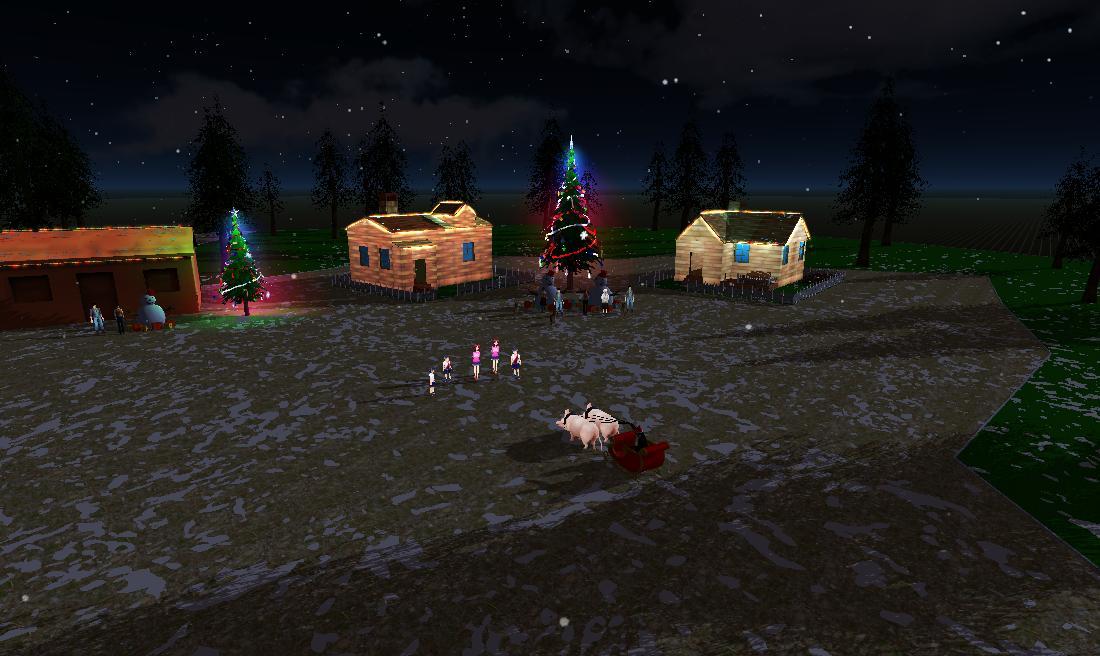 森林里的圣诞节--骑猪的怪老头